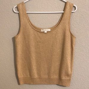 ST. John gold basic tank top, size medium, flaw*